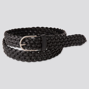 Women Mesh Belt, Black, Medium
