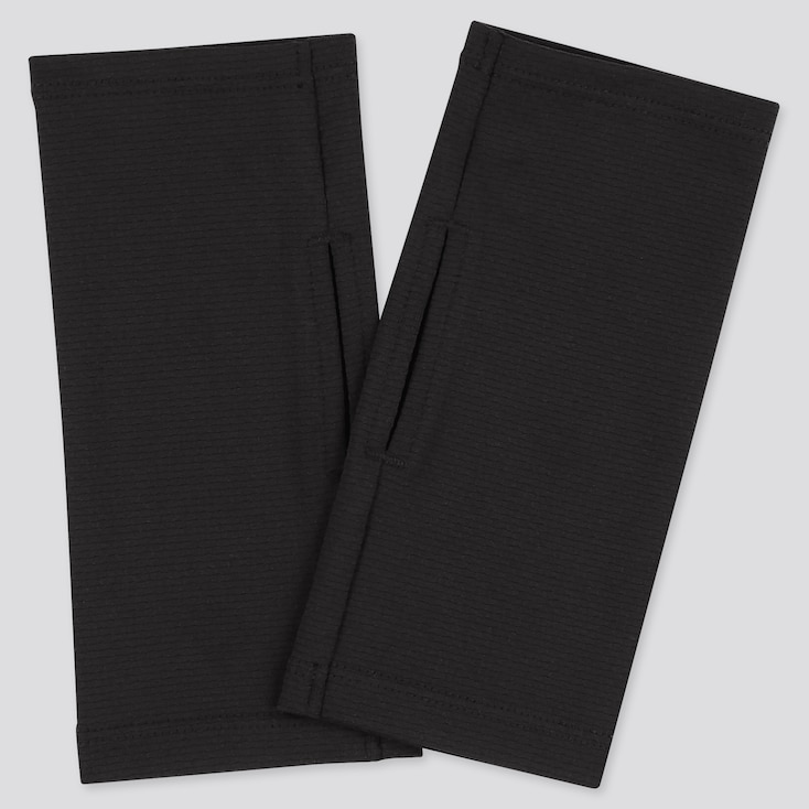 Women Airism Uv Protection Mesh Short Arm Cover, Black, Large