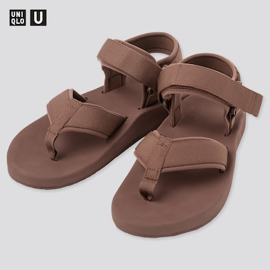 U Sandals, Dark Brown, Medium