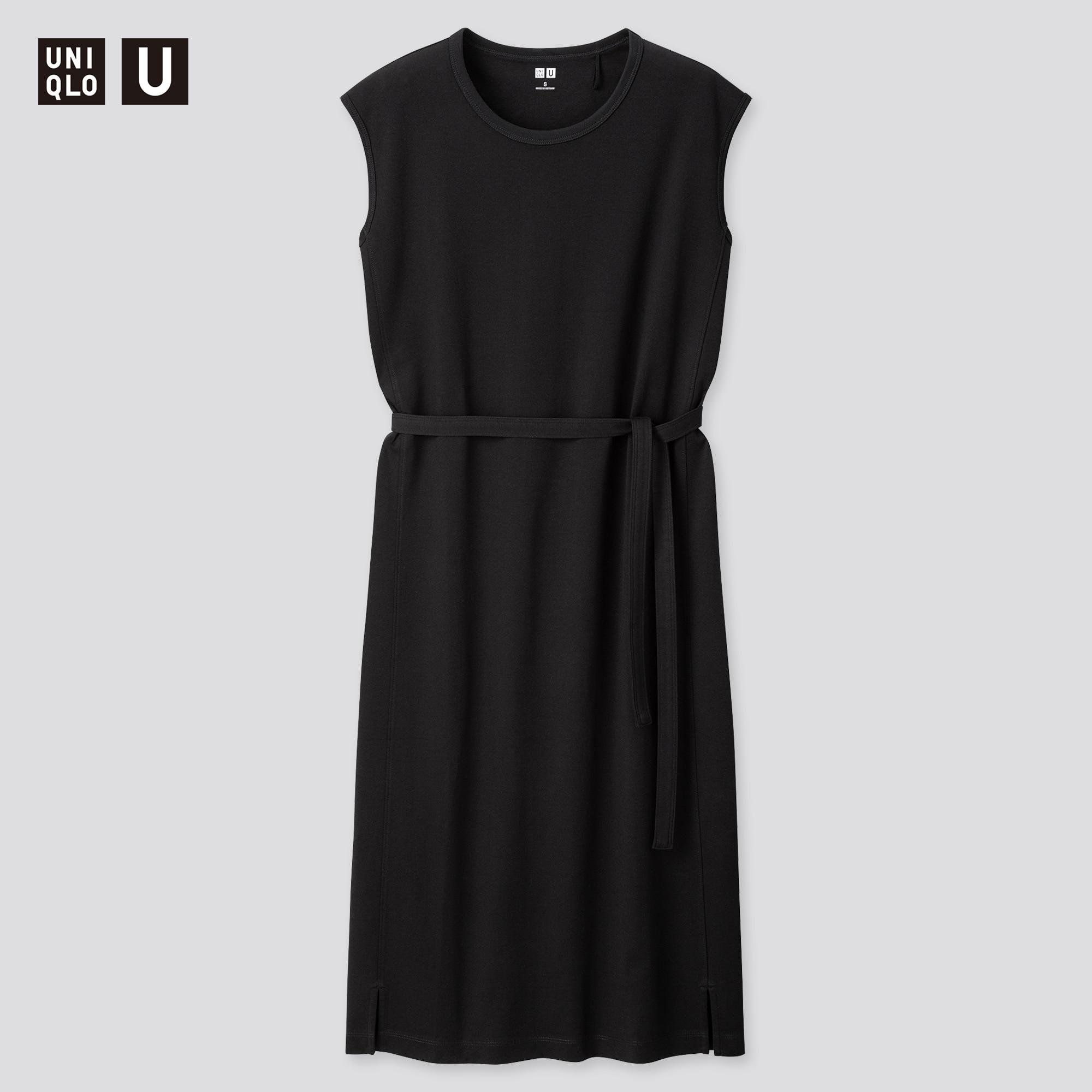 Women Uniqlo U Crew Neck Sleeveless Dress