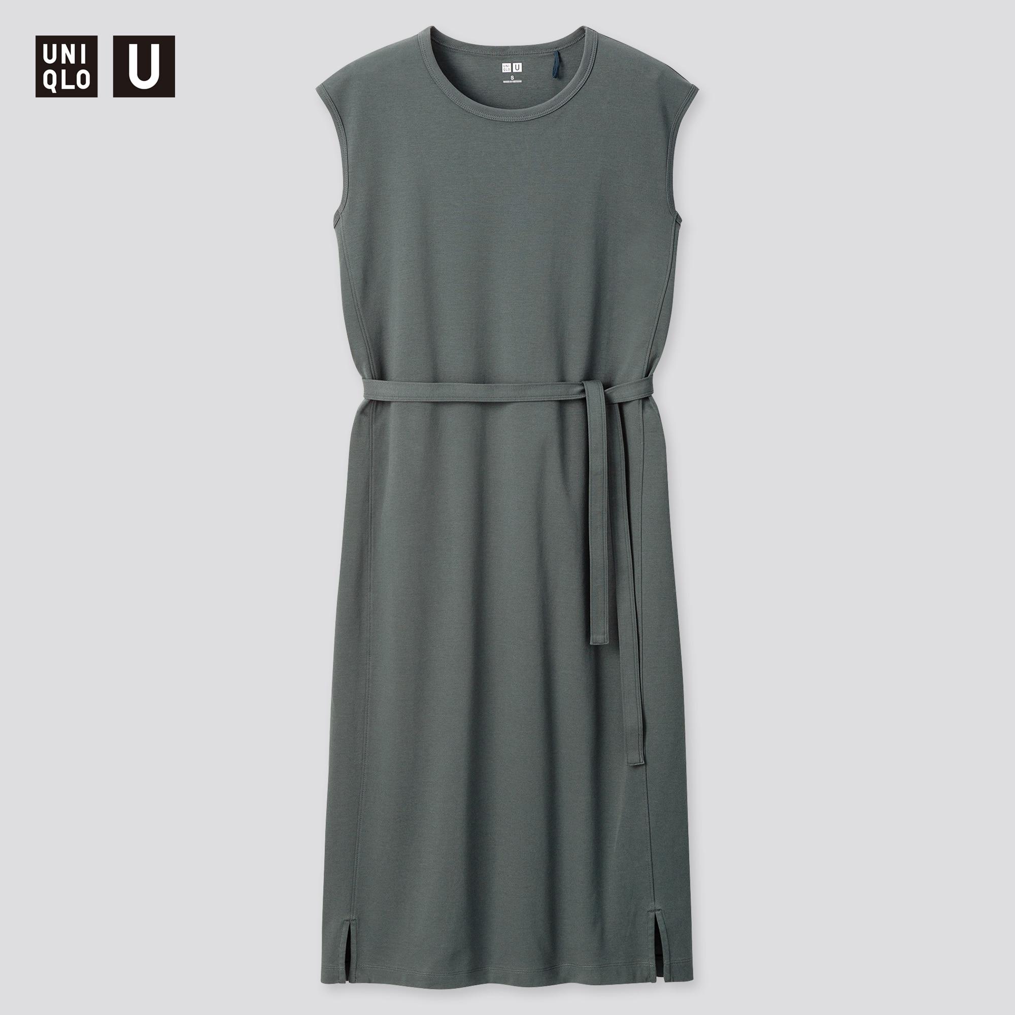 Uniqlo women u crew neck sleeveless dress