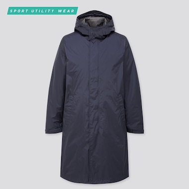 MEN BLOCKTECH LIGHT HOODED COAT