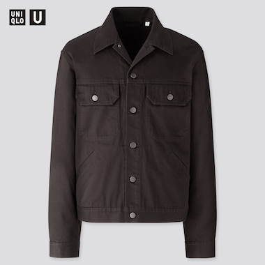 Men U Trucker Jacket, Black, Medium