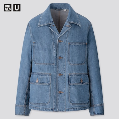 Men U Denim Work Jacket, Blue, Medium