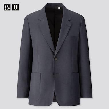 Men U Tailored Jacket, Navy, Medium