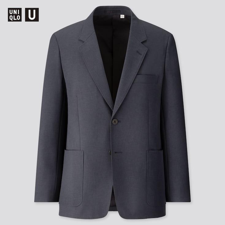 Men U Tailored Jacket, Navy, Large