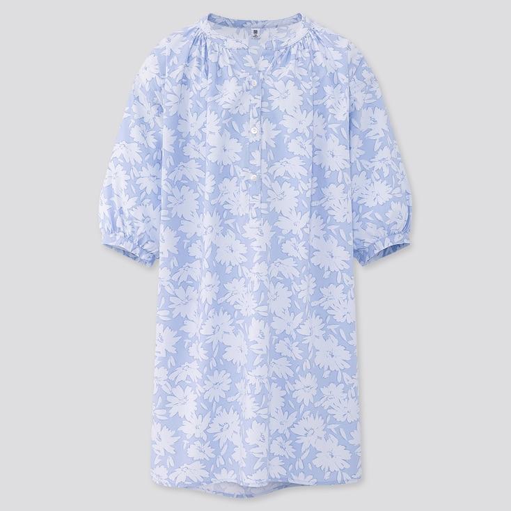 Girls Joy Of Print 3/4 Sleeve Dress, Blue, Large