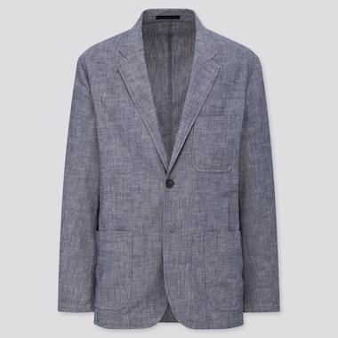 Men Chambray Lightweight Jacket