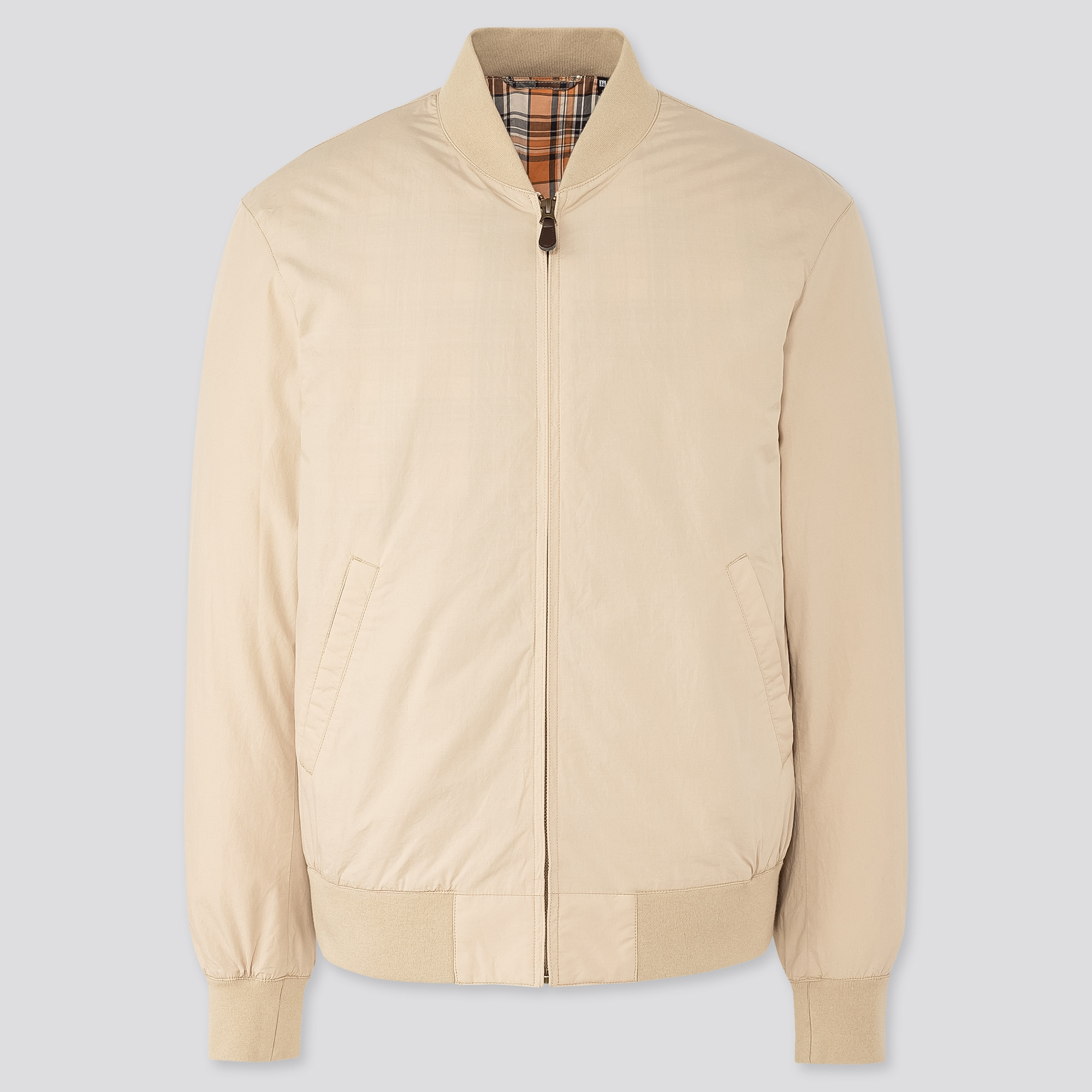 men cotton ribbed blouson