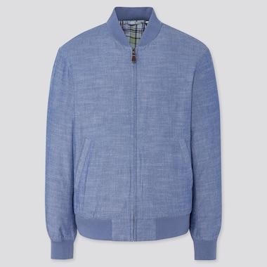 Men Cotton Ribbed Blouson Jacket