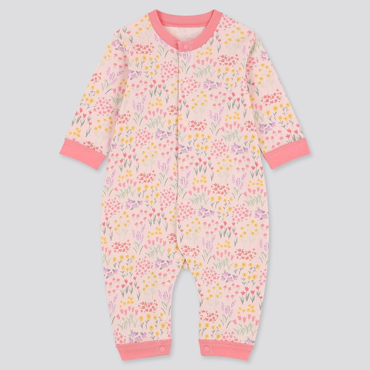 Newborn Long-Sleeve One Piece Outfit, Pink, Large