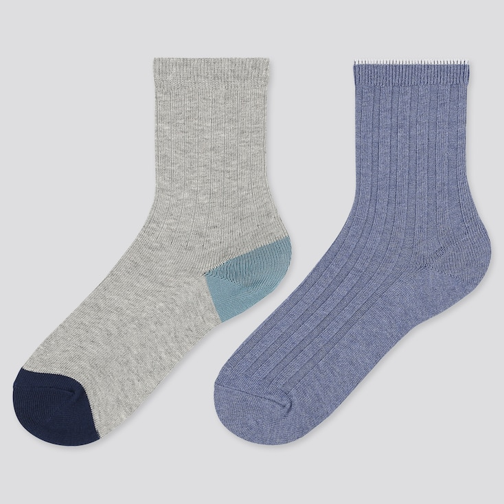 Kids Regular Socks, Gray, Large
