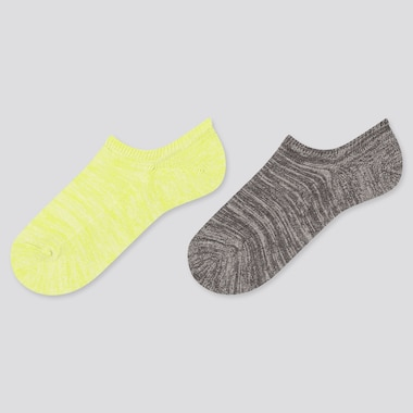 Girls Foot Cover Socks (2 Pairs), Green, Medium
