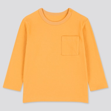 Toddler Crew Neck Long-Sleeve T-Shirt, Orange, Medium