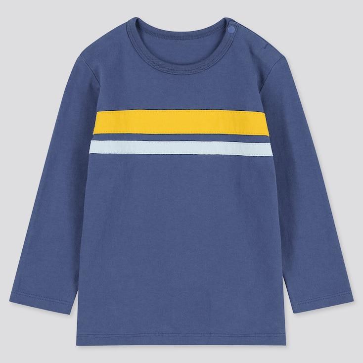 Toddler Sweat Long-Sleeve T-Shirt, Blue, Large
