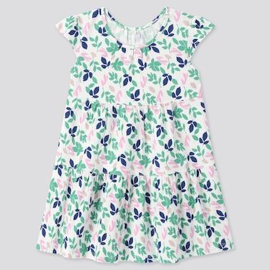 Toddler Short-Sleeve Dress, Off White, Medium