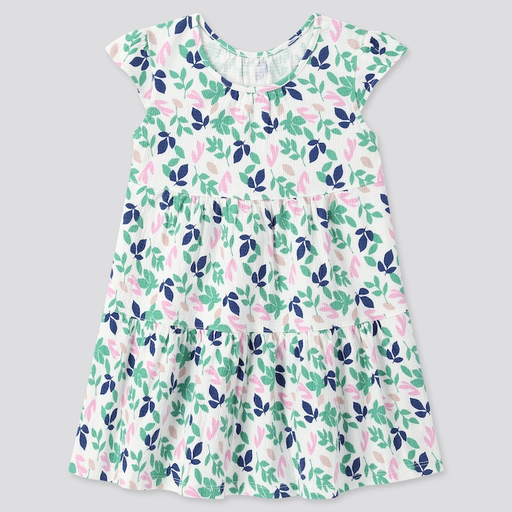 Toddler Short-Sleeve Dress (Online Exclusive), Off White, Large