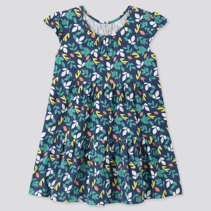 Toddler Short-Sleeve Dress (Online Exclusive), Blue, Large