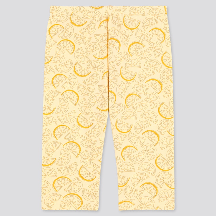 Baby Cropped Leggings, Yellow, Large