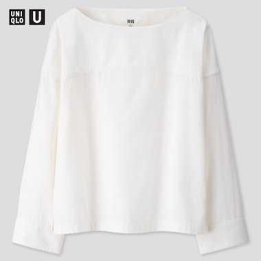Blusa Di Jeans Uniqlo U Collo A Barchetta Donna