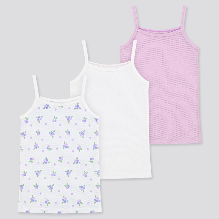 Toddler Cotton Mesh Camisole (Set Of 3) (Online Exclusive), Purple, Large