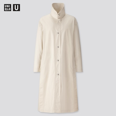 Women U Light Long Coat, Natural, Medium