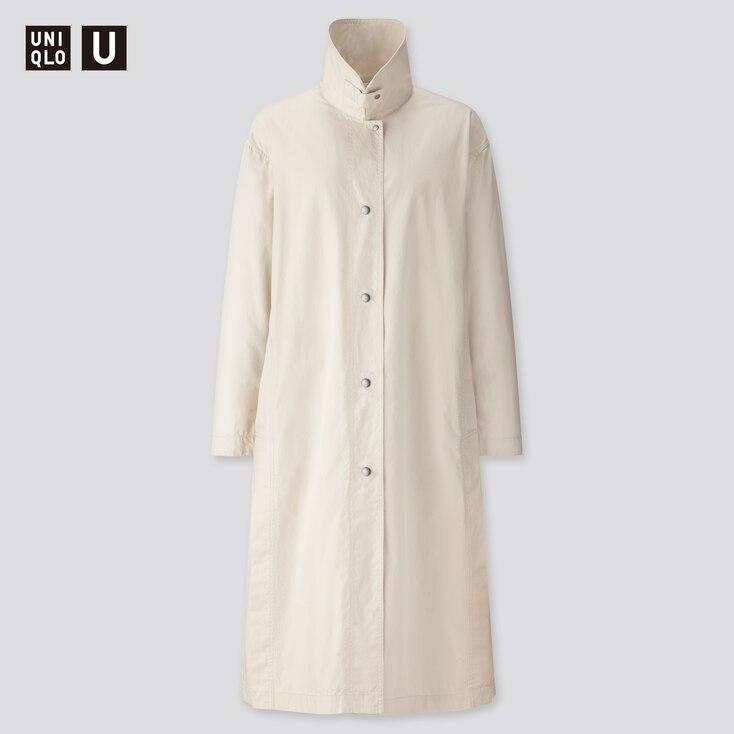Women U Light Long Coat, Natural, Large