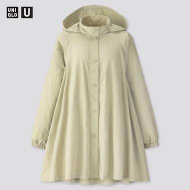 Women Uniqlo U Stand Collar A-Line Coat