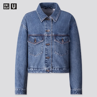 Women U Denim Jacket, Blue, Medium