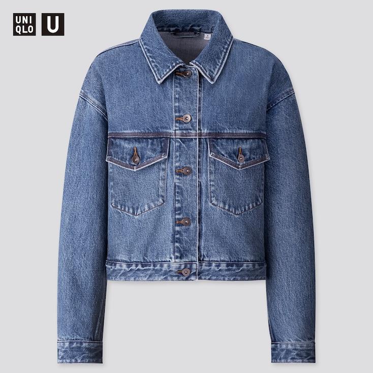 Women U Denim Jacket, Blue, Large
