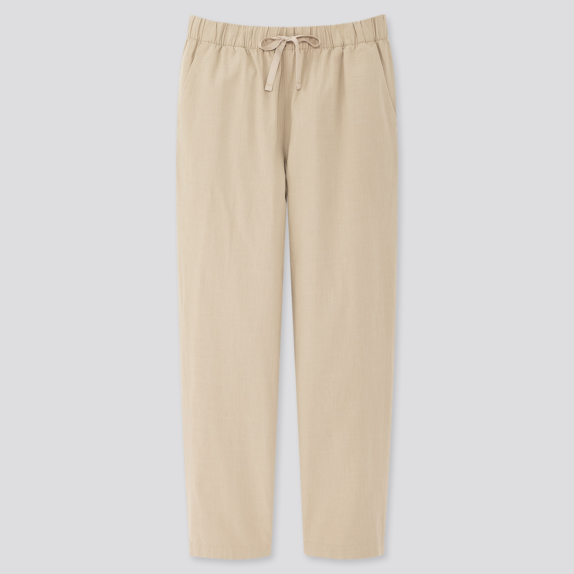 WOMEN COTTON RELAX ANKLE-LENGTH PANTS