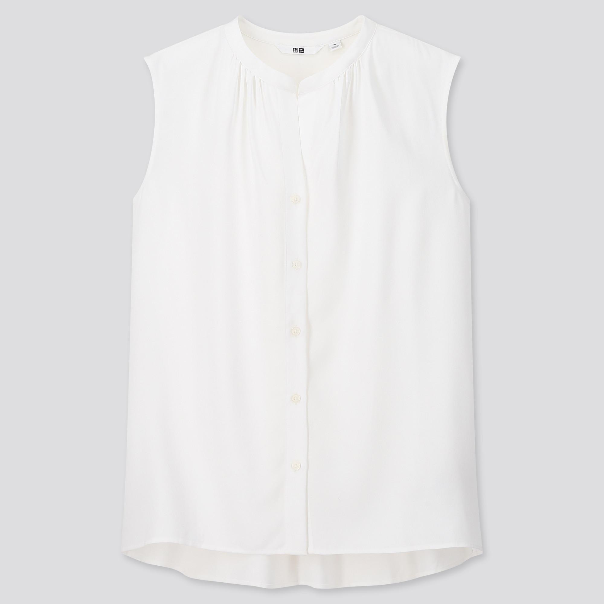 women rayon sleeveless blouse