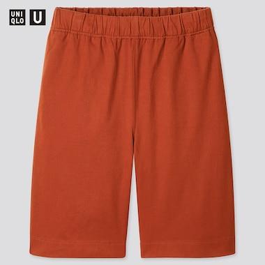 Men U Jersey Shorts, Dark Orange, Medium