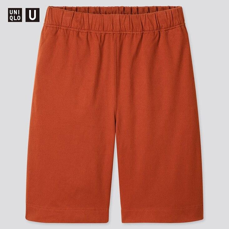 Men U Jersey Shorts, Dark Orange, Large