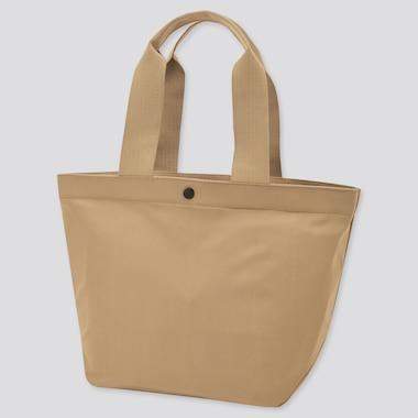 Women Nylon Tote Bag, Beige, Medium