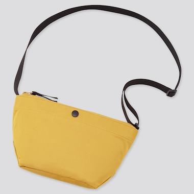 Women Nylon Mini Shoulder Bag, Yellow, Medium