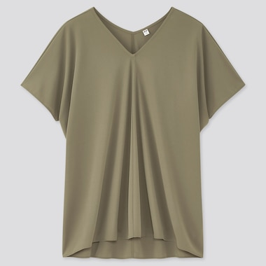 Women Crepe Jersey Short Sleeved Tunic