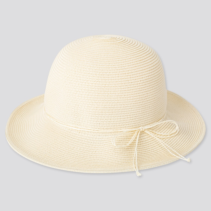 Girls Uv Protection Hat, Off White, Large