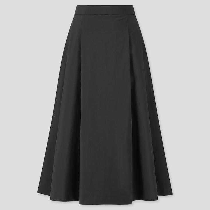 Women Dry Stretch High-Waisted Flare Skirt, Black, Large