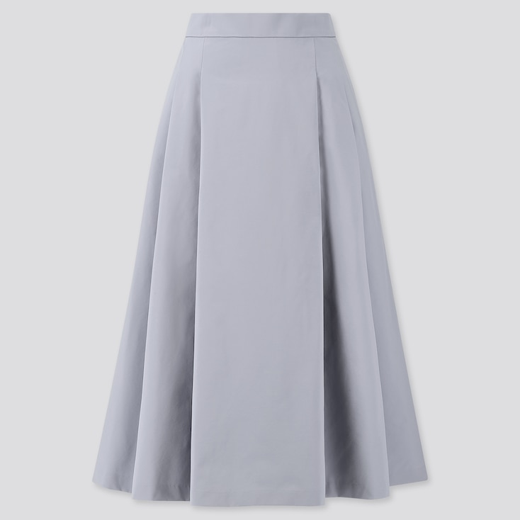 Women Dry Stretch High-Waisted Flare Skirt, Blue, Large