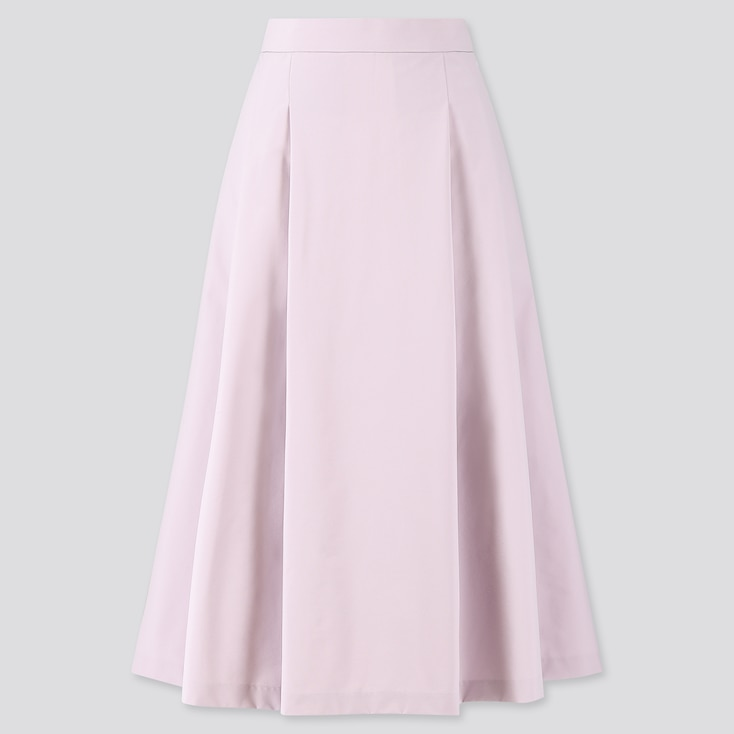 Women Dry Stretch High Waisted Flared Skirt by Uniqlo