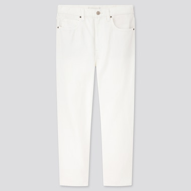 Women Slouch Tapered Ankle Jeans, Off White, Medium