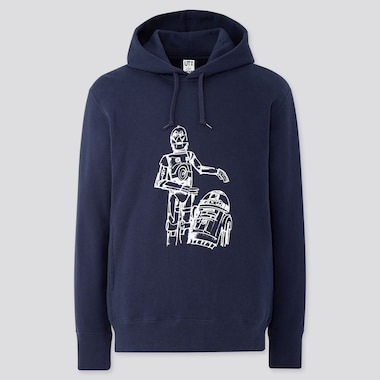STAR WARS FOREVER JAMES JARVIS LONG-SLEEVE HOODED SWEATSHIRT, NAVY, medium
