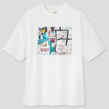 Women Crossing Lines Ut Jean-Michel Basquiat (Short-Sleeve Graphic T-Shirt), White, Medium