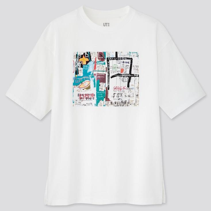Women Crossing Lines Ut Jean-Michel Basquiat (Short-Sleeve Graphic T-Shirt), White, Large