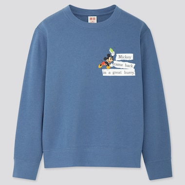 KIDS DISNEY STORIES LONG-SLEEVE SWEATSHIRT, BLUE, medium