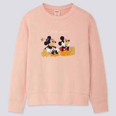 KIDS DISNEY STORIES LONG-SLEEVE SWEATSHIRT, PINK, medium