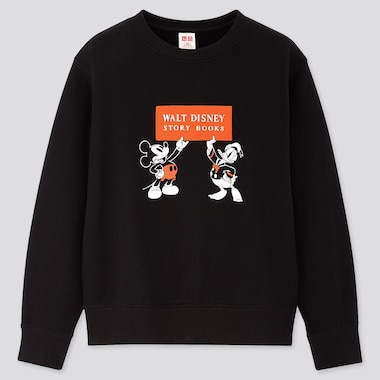 KIDS DISNEY STORIES LONG-SLEEVE SWEATSHIRT, BLACK, medium