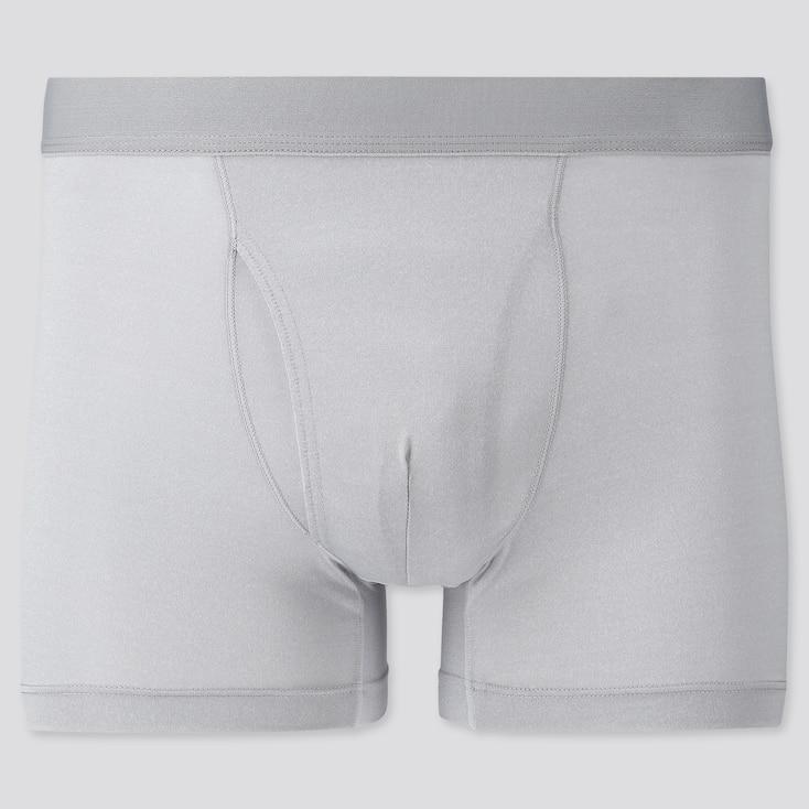 Men Airism Mesh Heather Boxer Briefs, Light Gray, Large