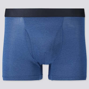 Men Airism Heather Boxer Briefs, Blue, Medium